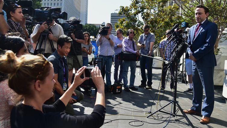 Francis Malofiy, avocat de Michael Skidmore pour Taurus  (ROBYN BECK / AFP)