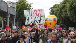 Manifestation contre la loi Travail à Paris, le 5 juillet 2015 (FRANCOIS MORI / AP / SIPA)