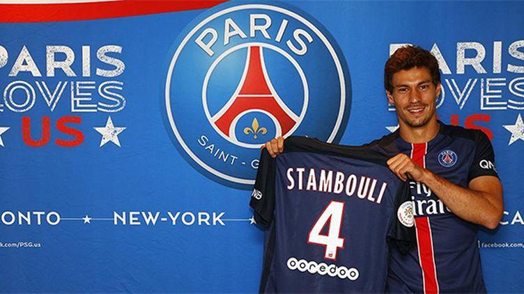 Le nouveau milieu de terrain du PSG Benjamin Stambouli