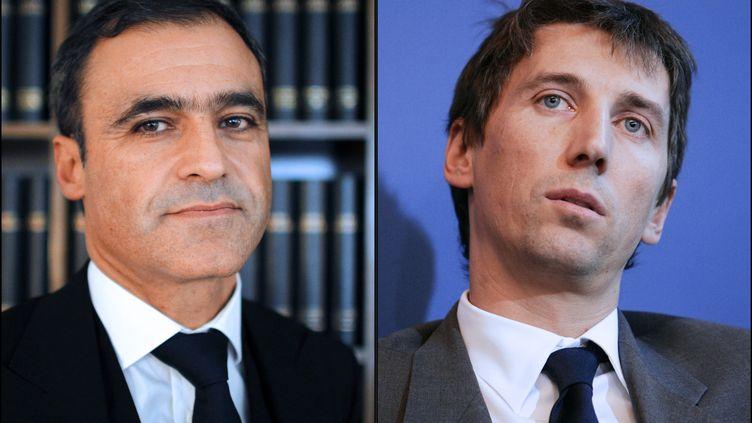 Alors que Pascal Wilhelm (à gauche) est toujours en garde à vue dans l'affaire Bettencourt, Stéphane Courbit(à droite) est sorti libre mardi 12 juin 2012. (PATRICK KOVARIK / AFP)