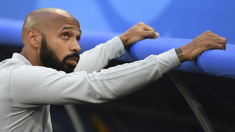Thierry Henry est depuis 2016 entraineur adjoint de l'équipe de Belgique en charge des attaquants.adjoint en charge des attaquants (PAUL ELLIS / AFP)