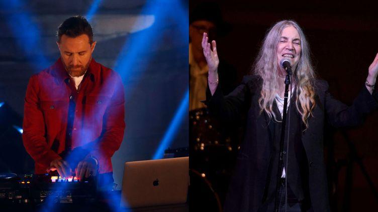 David Guetta et Patti Smithorganisent des livestreams à l'occasion du réveillon ((Laszlo Balogh/Getty Images for MTV/Ilya S. Savenok/Getty Images for Tibet House))