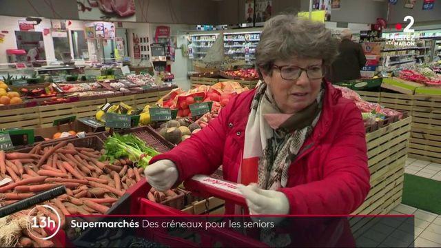 Supermarchés : des créneaux pour les personnes âgées