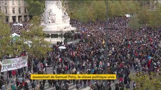 La place de la République à Paris, dimanche 18 octobre 2020. (FRANCEINFO)