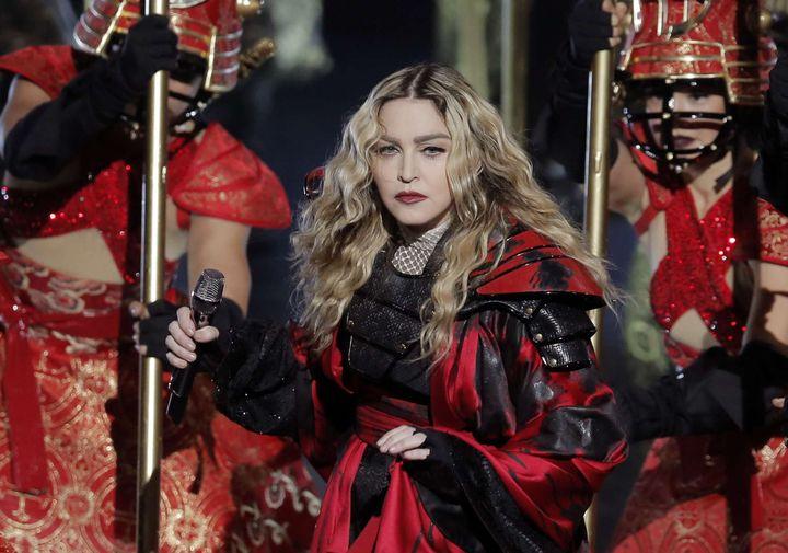 Madonna sur scène (2016)  (Kin Cheung/AP/SIPA)