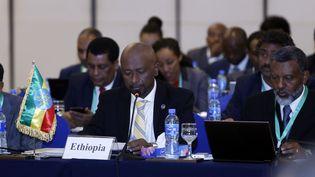 Seleshi Bekele Awulachew, ministre éthiopien de l'Eau, de l'Irrigation et de l'Energie, engagé dans une difficile négociation avec l'Egypte sur la mise en eau du Grand barrage éthiopien de la Renaissance. (MINASSE WONDIMU HAILU / ANADOLU AGENCY)