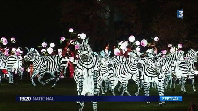 Inauguration du festival des lanternes à Gaillac