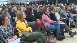 De nombreux habitants de Sainte-Pazanne (Loire-Atlantique) ont accouru à une réunion publique. (CAPTURE D'ÉCRAN FRANCE 3)