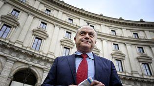 Le procureur Nicolas Gratteri, le 11 janvier 2021 à Rome, deux jours avant dele procès fleuve contre la mafia calabraise. (ALBERTO PIZZOLI / AFP)