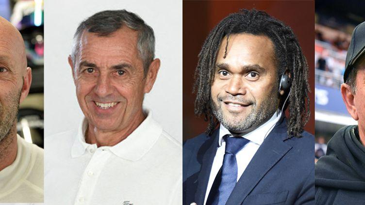 Fabien Barthez, Alain Giresse,Christian Karembeu et Jean-Louis Gasset. (AFP / JEAN-FRANCOIS MONIER / ALEXANDER NEMENOV / PASCAL GUYOT / RADIO FRANCE / CATHERINE GRAIN)