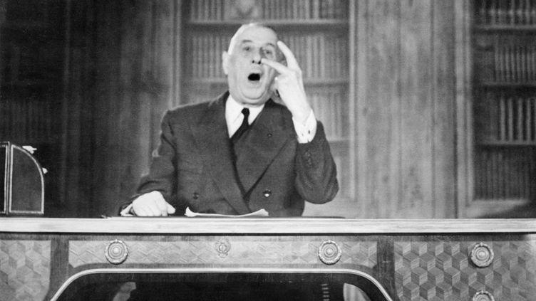 19 mars 1962. Dans une allocution télévisée, le général de Gaulle annonce le cessez-feu-en Algérie. (AFP)