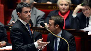 Le Premier ministre Manuel Valls, le 19 janvier 2016 à l'Assemblée nationale à Paris. (ALAIN JOCARD / AFP)