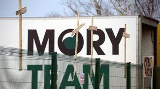 Le site du transporteur Mory Global, à Saint-Jacques-de-la-Lande, près de Rennes (Ille-et-Vilaine), le 28 janvier 2014. (DAMIEN MEYER / AFP)