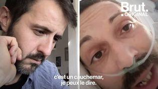 """VIDEO. """"Trop de personnes sous-estiment ce satané coronavirus"""" : le témoignage poignant de Gianni Zampino, malade (BRUT)"""