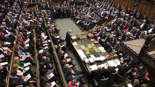 La Chambre des communes du Parlement britannique, le 13 mars 2019. (MARK DUFFY / AFP)