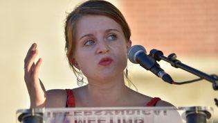 """La présidente de l'Unef Lilâ Le Bas demande """"des réponses d'urgence"""", pour faire face à la hausse du coût de la vie étudiante. (LOIC VENANCE / AFP)"""