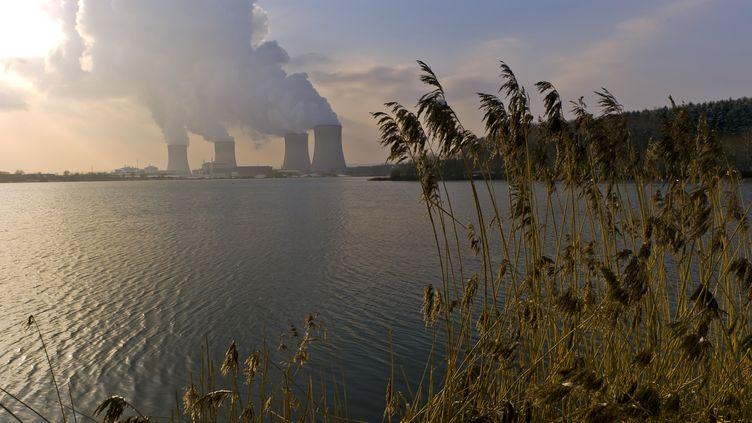 La centrale nucléaire de Cattenom, au bord de la Moselle, le 31 janvier 2012. (JEAN-CHRISTOPHE VERHAEGEN / AFP)