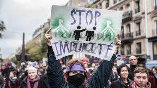 Manifestation contre les violences sexistes faites aux femmes, organisée a Paris le 24 Novembre 2018. (CHLOE SHARROCK / LE PICTORIUM / MAXPPP)