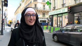 La présidente de l'Unef à l'université Paris IV, Maryam Pougetoux, dans une vidéo prise le 2 mai 2018. (AFP)