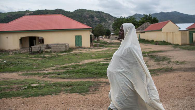 A Gwoza,dans le nord-est duNigeria, le 1er août 2017. (STEFAN HEUNIS / AFP)