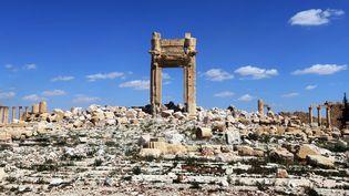 Palmyre, la cella dans le temple de Bêl, photographiée le 31 mars 2016.  (JOSEPH EID / AFP)