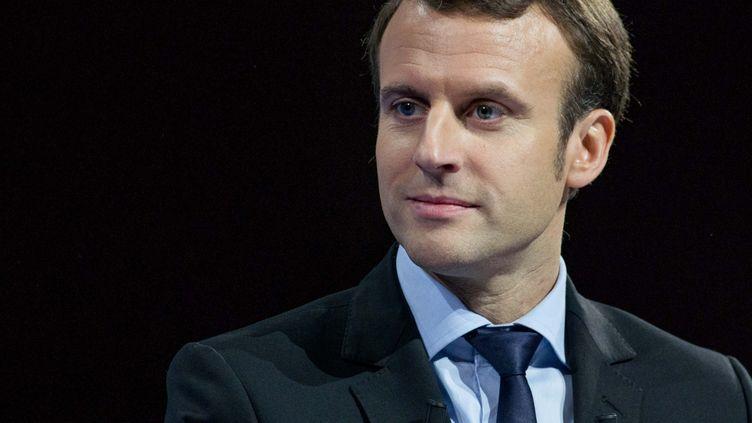 Emmanuel Macron, le 14 janvier 2017, à Lille (Nord). (GUILLAUME SEVIN / AFP)