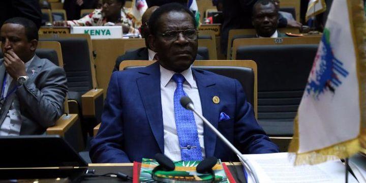 Le président de la Guinée Equatoriale, Teodoro Obiang Nguema Mbasogo, lors de la cérémonie de clôture du 28e Sommet de l'Union africaine à Addis-Abeba, en Ethiopie, le 31 janvier 2017. (Minasse Wondimu Hailu / ANADOLU AGENCY)