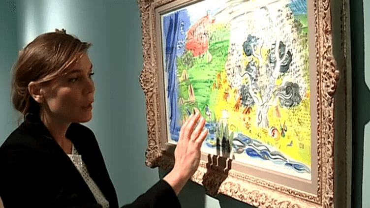 Lauren Laz, la directrice du musée Angladon - Collection Jacques Doucet évoque le travail pictural de Dufy, tout en finesse et en légèreté.  (France 3 Culturebox)