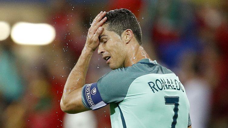 Cristiano Ronaldo pendant le match Portugal-Pays de Galles de l'Euro 2016, le 6 juillet 2016 à Lyon. (REUTERS)