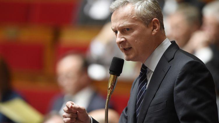 L'UMP Bruno Le Maire, le 12 mai 2015, à l'Assemblée nationale, à Paris. (ERIC FEFERBERG / AFP)