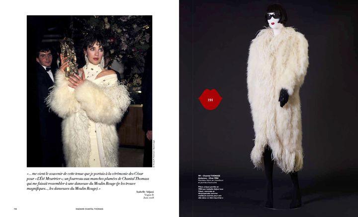 """Vente Chantal Thomass """"40 ans de mode"""" : tenue portée par IsabelleAdjanipour les César en 1984 (lot 191). (Jo Zhou)"""