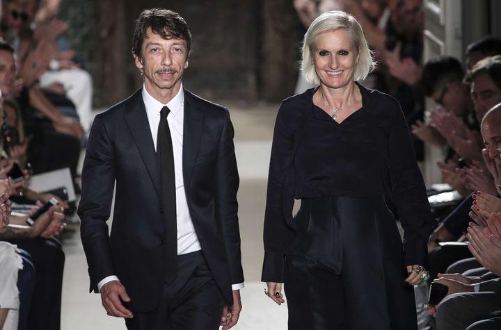 Maria Grazia Chiuri travaillait aux côtés de Pierpaolo Piccioli à la direction artistique de Valentino depuis 2008  (Kamil Zihnioglu/AP/SIPA)