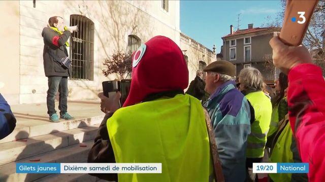 """""""Gilets jaunes"""" : dixième samedi de mobilisation"""