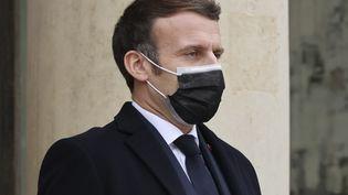 Le président Emmanuel Macron à l'Elysée, à Paris, le 16 décembre 2020. (THOMAS COEX / AFP)