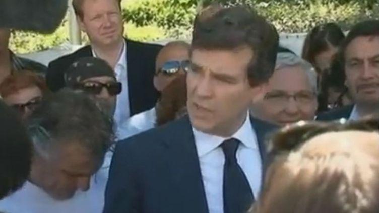 Arnaud Montebourg àà Gémenos (Bouches-du-Rhône), le 25 mai 2012. (FTVI / CAPTURE D'ECRAN)