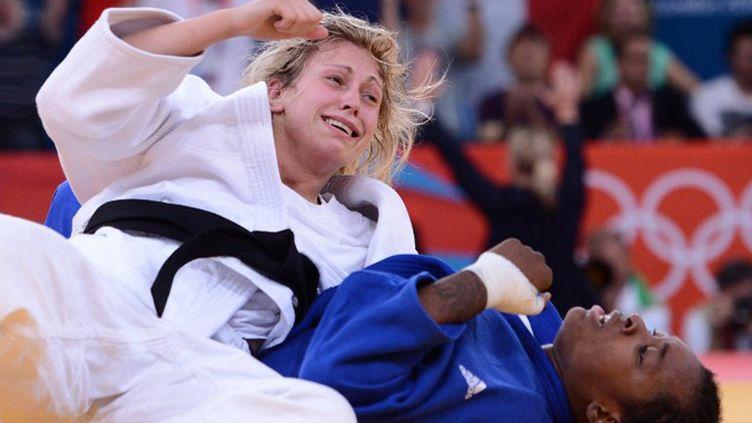 Audrey Tcheuméo a été battue en demi-finale (FRANCK FIFE / AFP)