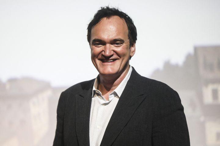 Quentin Tarantino lors de la cérémonie de clôture du Energa Cameraimage International Film Festival, en Pologne. (BEATA ZAWRZEL / NURPHOTO / AFP)