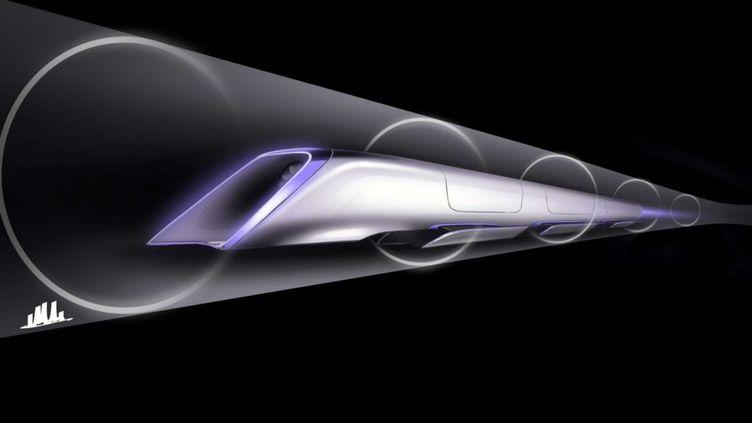 Une représentation de l'Hyperloop, dévoilée par SpaceX, le 15 juin 2015. (AP /SIPA / AP)