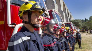 Présentation du nouveau materiel des pompiers de l'Hérault, en juillet 2020. (GUILLAUME BONNEFONT / MAXPPP)