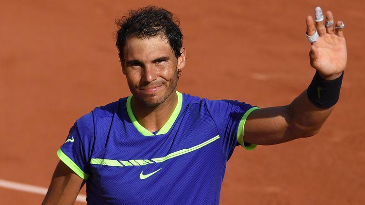 Rafale Nadal, heureux, n'a laissé aucune chance à Roberto Bautista Agut. (ALEXEY FILIPPOV / SPUTNIK)