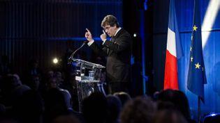 (Arnaud Montebourg devant les journalistes ce jeudi © Maxppp)