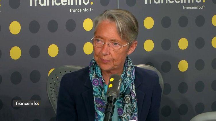 Elisabeth Borne, ministre des Transports, invitée sur franceinfo mardi 14 mai. (FRANCEINFO)