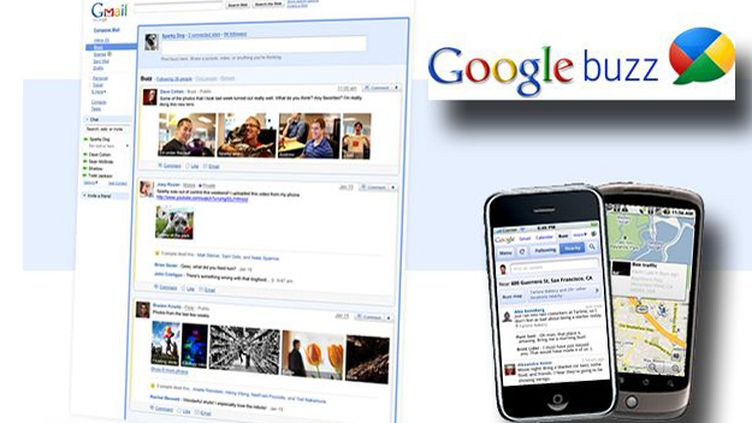 Illustration de Google buzz (DR)