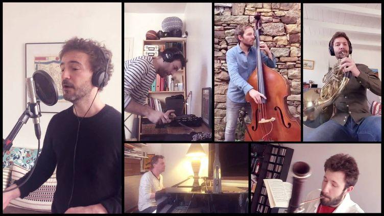 Renan Luce et ses musiciens en concert confiné pour le Printemps de Bourges imaginaire (Printemps imaginaire)