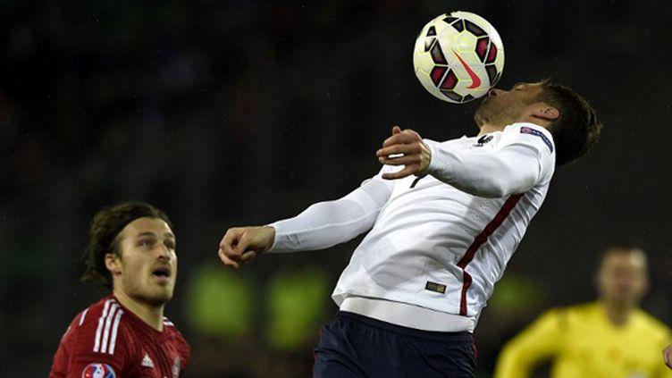 Olivier Giroud buteur avec la France (FRANCK FIFE / AFP)