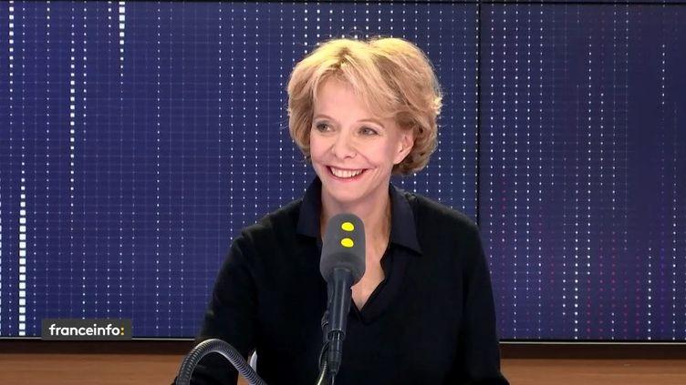 Frédérique Bredin, présidente du Centre National du Cinéma, invitée de franceinfo le 11 avril 2019 (FRANCEINFO / RADIOFRANCE)