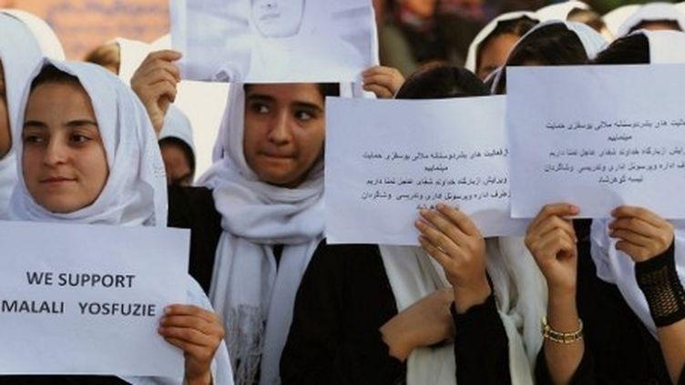 Manifestation de soutien à Malala à Herat en Afghanistan (AFP)