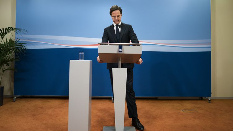 Le Premier ministre démissionnaire Mark Rutte, le 15 janvier 2021, à La Haye, aux Pays-Bas. (BART MAAT / ANP MAG / AFP)