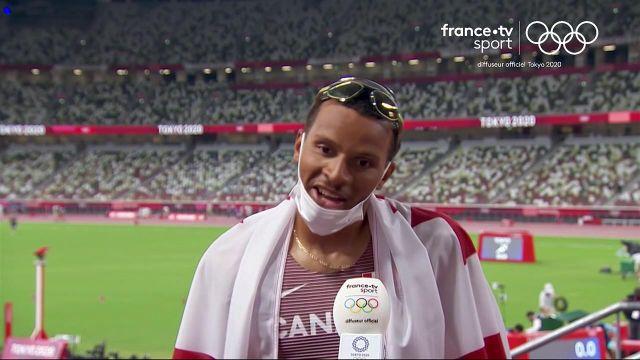 3e du 100 m, le Canadien remporte sa troisième médaille aux Jeux Olympiques après ses deux breloques de Rio.
