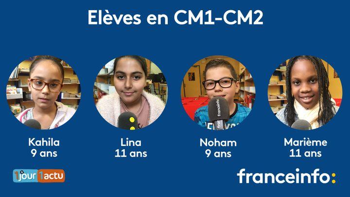 franceinfo junior, une émission en partenariat avec le magazine et site d'actualités pour enfants, 1jour1actu et 1jour1actu.com. (ESTELLE FAURE / FRANCEINFO - RADIOFRANCE)